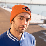 Sprocket Embroidered Knit Beanie