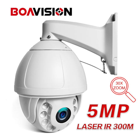 Caméra PTZ IP Zoom X30 Vision nocturne 300 mètres 5MP BOAVISION APPLICATION MOBILE HISEE