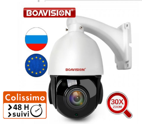 Caméra IP PTZ 1080P/4MP/5MP BoaVision Zoom X30 Vision Nocturne
