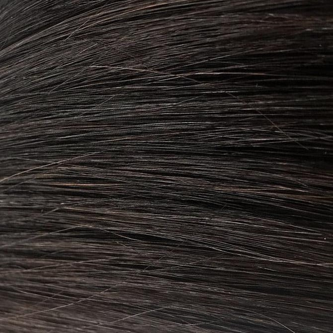 Darkest Black Brown Hand Tied Weft Hair Extensions #1B