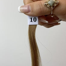 Load and play video in Gallery viewer, Lightest Brown Hand Tied Weft Hair Extensions #10