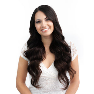 Black Brown Hand Tied Weft Hair Extensions #2