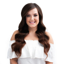 Load image into Gallery viewer, Darkest Brown Hand Tied Weft Hair Extensions #3