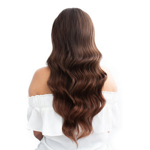 Darkest Brown Nano Bead Hair Extensions #3