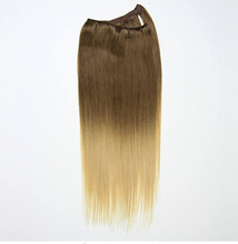 Load image into Gallery viewer, Brown to Blonde Ombre Hand Tied Weft Hair Extensions T4/24