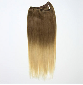 Brown to Blonde Ombre Hand Tied Weft Hair Extensions T4/24