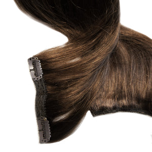 Dark Brown Clip-In Hair Extensions #4