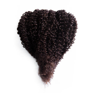 Curly Black Brown Hand Tied Weft Hair Extensions #2
