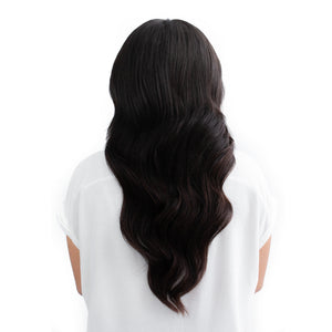 Darkest Black/Brown Nano Bead Hair Extensions #1B