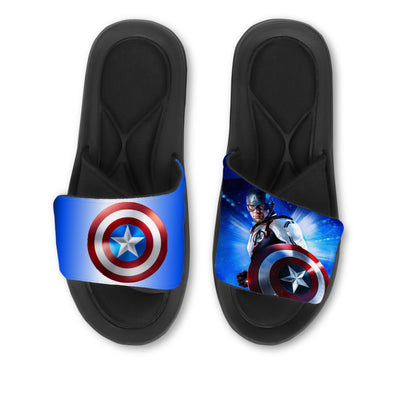 avengers, captain america, avengers slides, captain america slides, superhero, custom slides, custom sandals