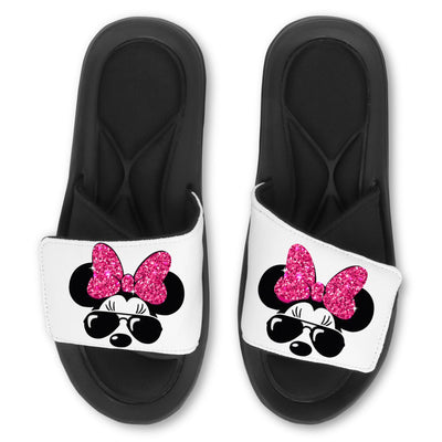 Custom Slides - Disney Minnie Glitter
