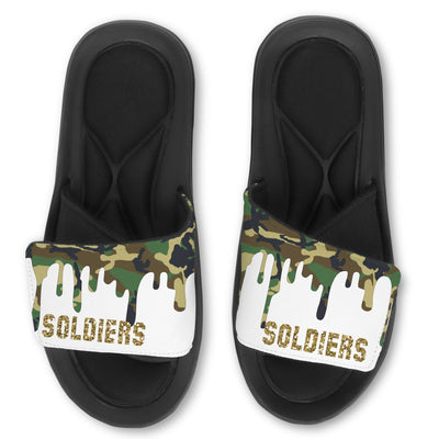Personalized slides, Army drip, Camo, Birthday Slides, Custom Team Slides