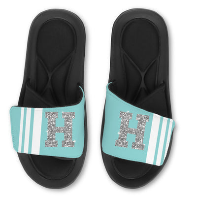 Team Color Slides Striped - with Glitter