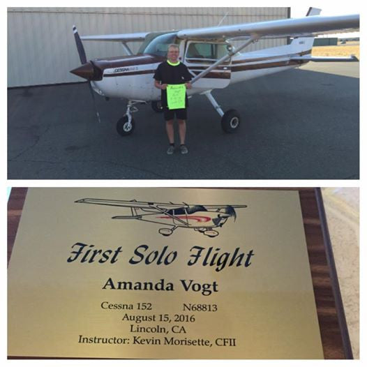 Amanda Vogt: First Solo Flight