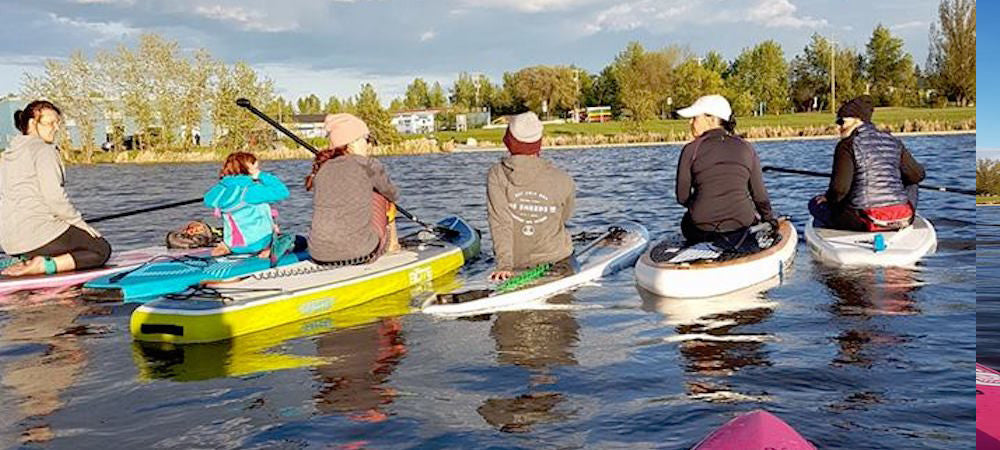 Alberta SUP Meetup with ambassadors Laura and Kira Holm