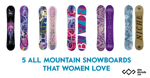 Top all mountain snowboards for female riders