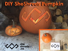 SheShreds DIY Pumpkin