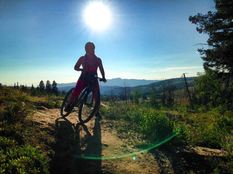 Girl Mountain Biking for Health