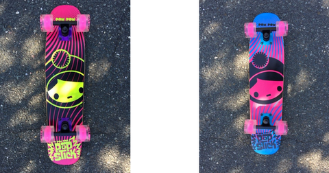 Pom Pom Girls Skateboards with Light Up Wheels