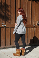SheShreds Crew Sweatshirt With Zippered Pockets