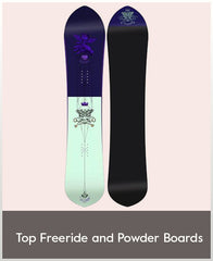 Top Women's Freeride & Powder Snowboards
