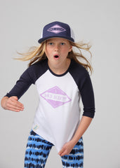 Girls Shred Academy 3/4 Sleeve Baseball Tee