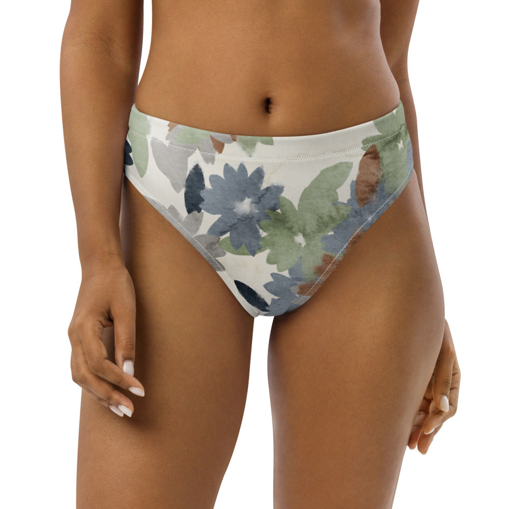 Recycled high-waisted bikini bottom Bloom
