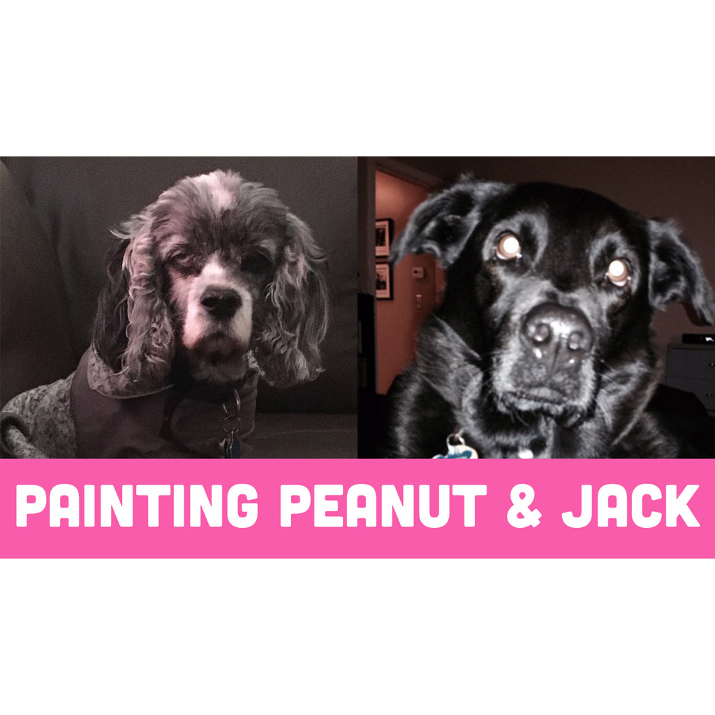 Painting Portraits of Peanut & Jack