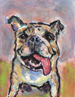 "***Custom Pet Portrait - 8""x10"" acrylic painting on canvas (bulldog painting is a sample)***"