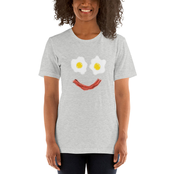 Bacon And Eggs Breakfast Smiley Short-Sleeve Unisex T-Shirt