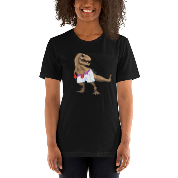 T-Rex Is A Bad Boxer Short-Sleeve Unisex T-Shirt