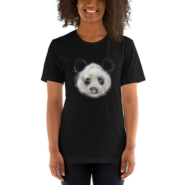 Sketchy Panda Short-Sleeve Unisex T-Shirt