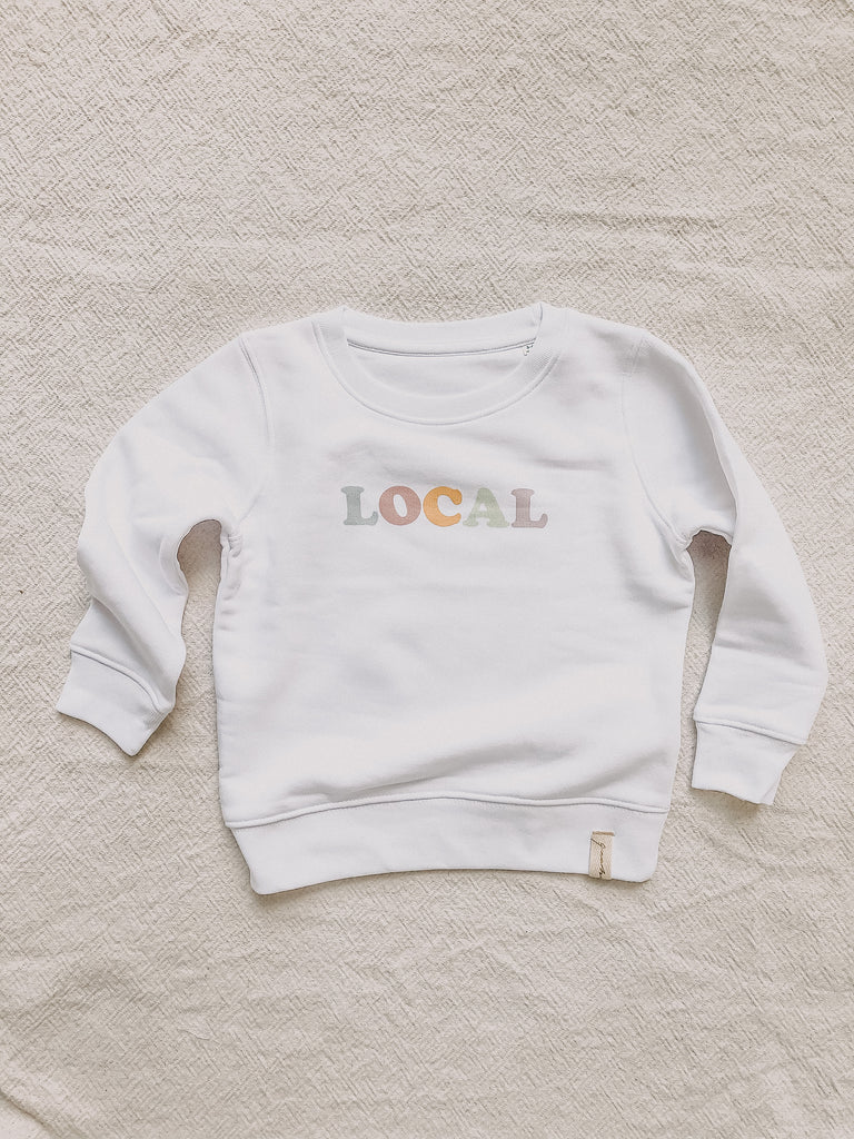 "Sweater ""LOCAL"" Kids (weiß) - quatschbanane"