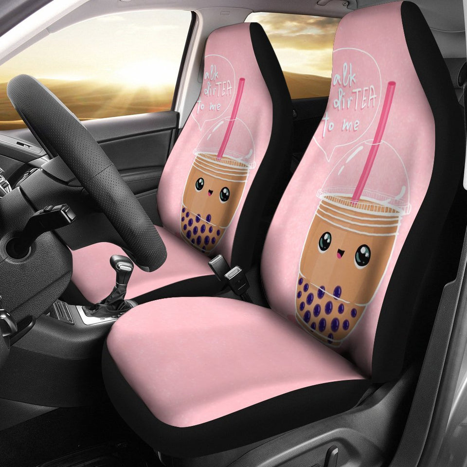 Boba Tea Cute Car Seat Covers