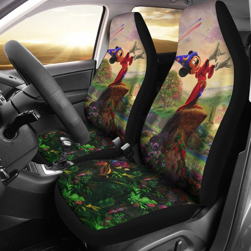 Disney Mickey In Wood Car Seat Covers 191201