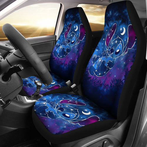 Stitch Galaxy Car Seat Covers Disney Cartoon Fan Gift H200304