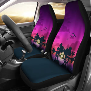 Shadows Of Mickey Minnie Kisses Disney Car Seat Covers 191126