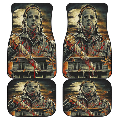Michael Myers Halloween Car Floor Mats Movie Fan Gift H063020