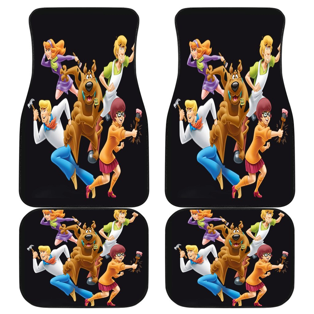 Schooby Doo Team Funny In Black Theme Car Floor Mats 191031