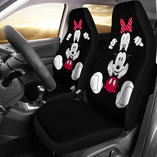 Mickey and Minnie Black Car Seat Covers Disney Cartoon H042220