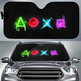 Playstation Symbol Led Buttons In Black Theme Car Auto Sunshades Auto Sun Shades