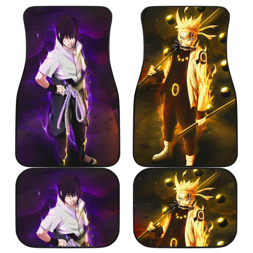 Sasuke And Naruto Art Car Floor Mats Anime Fan Gift H053120