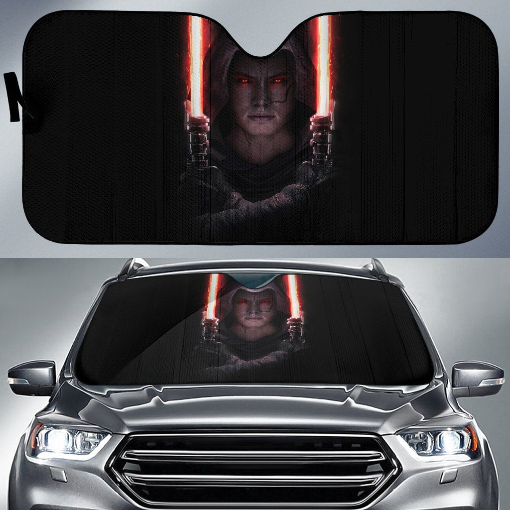 Rey Darkside Lightsaber Star Wars Car Auto Sun Shade N022408