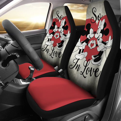 Mickey Love  Minnie Car Seat Covers Disney Cartoon Fan Gift H0113