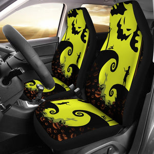 Jack Sally Oogie Boogie Silhouette The Nightmare Before Christmas Car Seat Covers