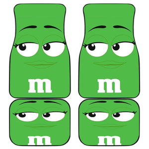 M&m Green Chocolate Car Floor Mats 191024