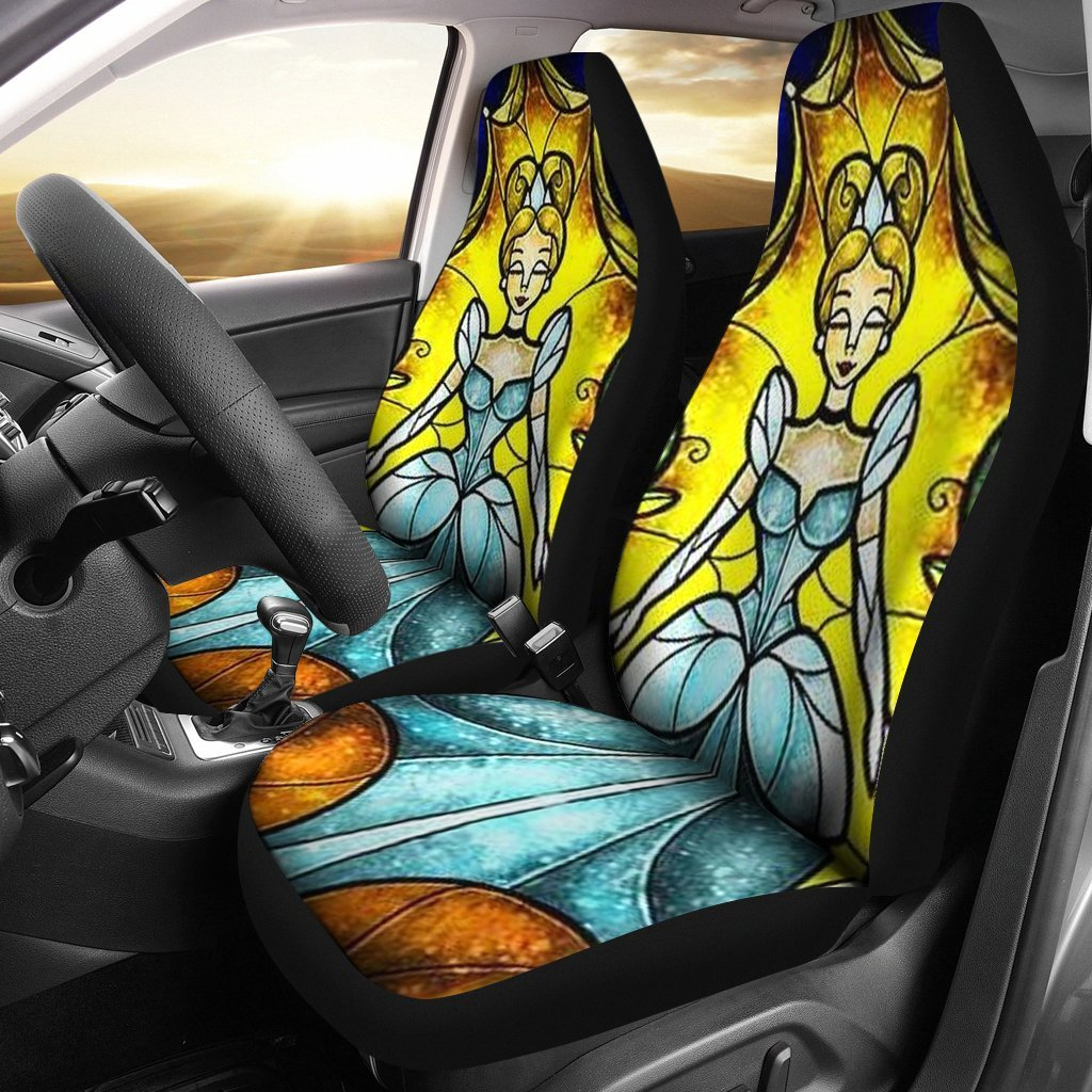 Disney Princess Cinderella Cartoon Fan Gift Car Seat Covers T1228