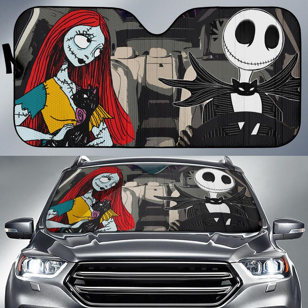 Nightmare Before Christmas Driving Car Auto Sun Shade Shades