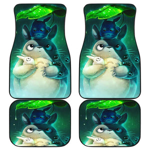 Totoro Rain Hiding Leaves Car Floor Mats 191102