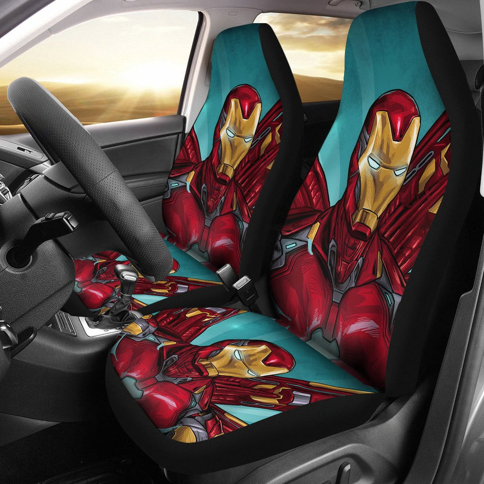 Iron Man Avengers New Suit Art Marvel Car Seat Covers NA022308
